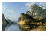 Sogne Fjord, Norway Giclee Print by Adelsteen Normann