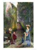 Afternoon in the Colonna Garden, Rome Giclee Print by Marie Spartali Stillman