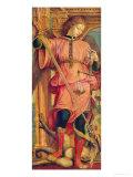 St. Michael Giclée-tryk af Bernadino Zenale