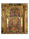 Coronation of the Virgin (Detail) Giclée-Druck von Paolo Veneziano