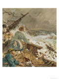 Grace Darling and Her Father Saving the Shipwrecked Crew, 17th September 1838 Giclee Print by William Bell Scott