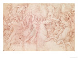 The Battle of the Sea Gods Giclee Print by Andrea Mantegna