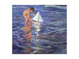 The Young Yachtsman, 1909 Giclée-trykk av Joaquín Sorolla y Bastida