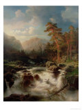Mountain Torrent, Smaland Giclee Print by Marcus Larson
