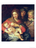 The Holy Family with Elizabeth Giclee Print by Giuseppe Bartolomeo Chiari