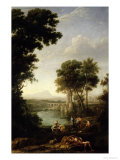 Landscape with the Finding of Moses Giclee Print by Claude Lorrain