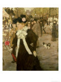 Boulevard Des Italiens Giclee Print by Jean Francois Raffaelli