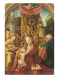 The Madonna and Child Enthroned Giclee Print by Joost De Beer