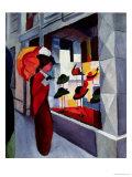 The Hat Shop Giclée-tryk af Auguste Macke