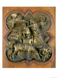 The Sacrifice of Isaac, Bronze Competition Relief for the Baptistry Doors, Florence, 1401 Giclée-tryk af Brunelleschi, Filippo