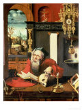 St. Jerome in His Study Giclee Print by Pieter Coecke van Aelst