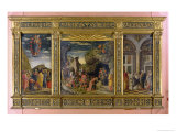 Altarpiece Showing the Ascension, the Adoration of the Magi and the Circumcision Giclee Print by Andrea Mantegna