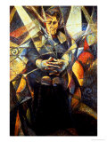 Portrait of a Seated Woman Giclee Print by Umberto Boccioni
