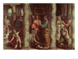 The Healing of the Lame Man (Sketch for the Sistine Chapel) (Pre-Restoration) Giclee Print by Raphael