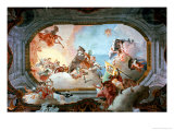 Allegory of Marriage of Rezzonico to Savorgnan Giclee Print by Giovanni Battista Tiepolo