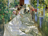 Mending the Sail Premium Giclee Print by Joaquín Sorolla y Bastida