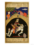 "Rustam Slays the White Div of Mazandaran, Illustration from the ""Shahnama"" Giclee Print"