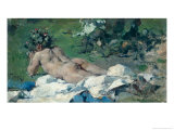 Study of a Nude, 1888 Giclee Print by Ignacio Pinazo Camarlech