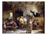 A Village School Premium Giclee Print by William III Bromley