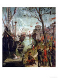 Arrival of St.Ursula During the Siege of Cologne, from the St. Ursula Cycle, 1498 Gicle-tryk af Vittore Carpaccio