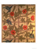 &quot;Trellis&quot; Wallpaper Design, 1864 Reproduction proc&#233;d&#233; gicl&#233;e par William Morris