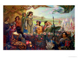 Lancelot and Guinevere Giclee Print by Herbert James Draper