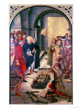 The Burning of the Books or St. Dominic De Guzman and the Albigensians Giclée-tryk af Pedro Berruguete