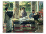 Anacreon Reading His Poems at Lesbia's House Premium Giclee Print by Sir Lawrence Alma-Tadema