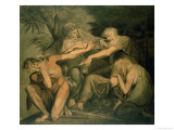 "Oedipus Cursing His Son Polynices, ""Go to Ruin, Spurned and Disowned by Me.."" Giclee Print by Henry Fuseli"