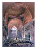 Hagia Sophia, Interior, Constantinople, Published 1852 Giclee Print by Gaspard Fossati