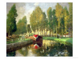 Barge on a River, Normandy Giclee Print by Rupert Charles Wolston Bunny