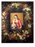 Garland of Fruit and Flowers with Virgin and Child Giclee Print by Jan Brueghel the Elder