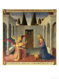 The Annunciation, Detail from Panel One of the Silver Treasury of Santissima Annunziata, c. 1450-53 Giclee Print by Fra Angelico 