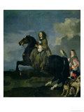 Christina of Sweden on Horseback Giclee Print by Sebastien Bourdon