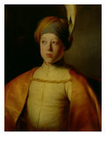 Portrait of a Boy in Persian Dress Premium Giclee Print by Jan The Elder Lievens
