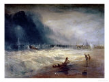 Lifeboat and Manby Apparatus Going off to a Stranded Vessel Making Signal of Distress, circa 1831 Lámina giclée por William Turner