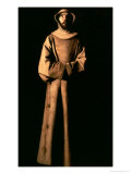 St. Francis of Assisi Giclee Print by Francisco de Zurbar&#225;n
