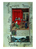 "The Birth of John the Baptist and the Baptism of Christ, from the ""Hours of Milan,"" 1422 Giclee Print by  Jan van Eyck"