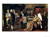 Mozart Directing His Requiem on His Deathbed Giclee Print by Mihaly Munkacsy