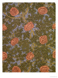 """Rose - 93"" Wallpaper Design Giclee Print by William Morris"