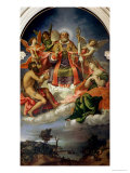 St. Nicholas in Glory with Saints Giclee Print by Lorenzo Lotto