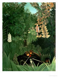 The Monkeys, 1906 Gicléedruk van Henri Rousseau