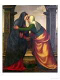 The Visitation of St. Elizabeth to the Virgin Mary Reproduction proc&#233;d&#233; gicl&#233;e par Mariotto Albertinelli