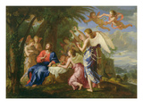 Christ Served by the Angels, c.1650 Premium Giclee Print by Jacques Stella