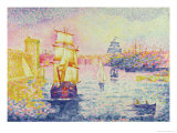The Port of Marseilles, circa 1909 Giclee Print by Henri Edmond Cross