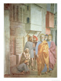 St. Peter Healing with His Shadow, circa 1427 Giclee Print by Tommaso Masaccio