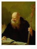 St. Benedict Giclee Print by Or Piazetta Piazzetta