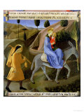The Flight into Egypt, Detail from Panel One of the Silver Treasury of Santissima Annunziata Giclee Print by  Fra Angelico