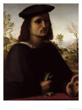 Portrait of a Youth with Gloves Giclee Print by Francesco Di Cristofano Franciabigio
