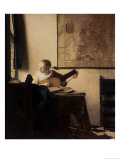Woman with a Lute, circa 1664 Giclee Print by Jan Vermeer